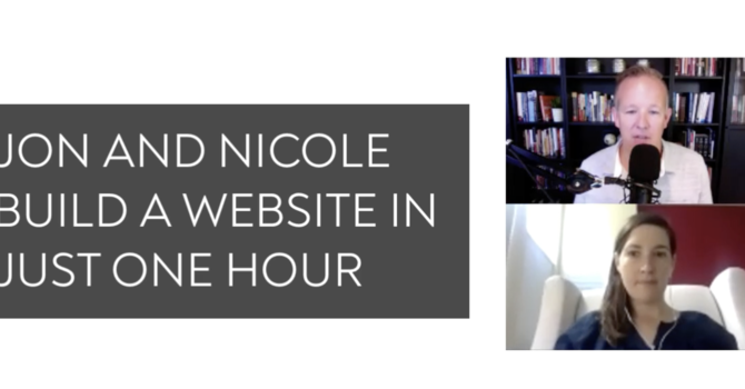 We Built A Website For Nicole In Just One Hour